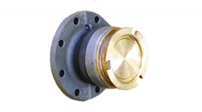 Dry break coupling, with TW3 flange